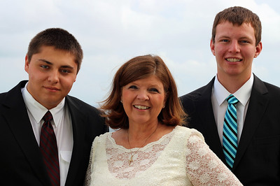 Aunt Debbie and her nephews, James and Jens.